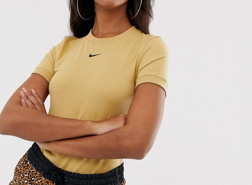 Nike - Body manches courtes - Beige