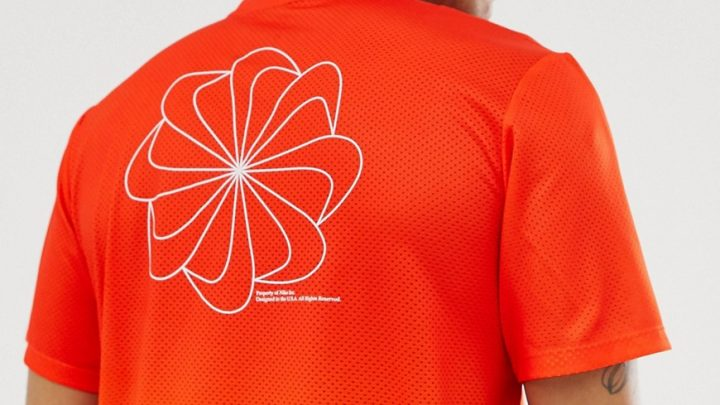 Nike Running - Dry Miler - T-shirt - Orange dégradé