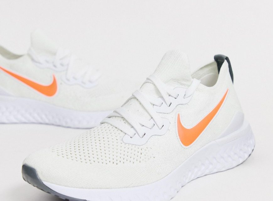 Nike Running - Epic React Flyknit 2 - Baskets - Blanc