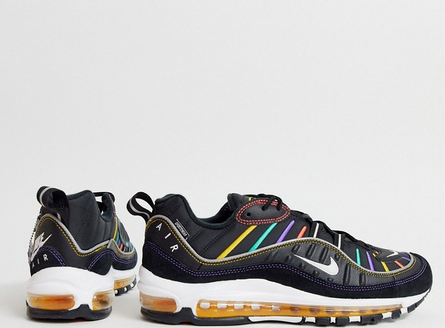 Nike - Air Max 98 - Baskets - Noir-Blanc