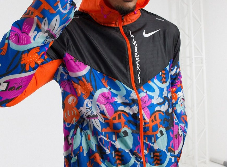 Nike Running - Tokyo - Coupe-vent - Multicolore