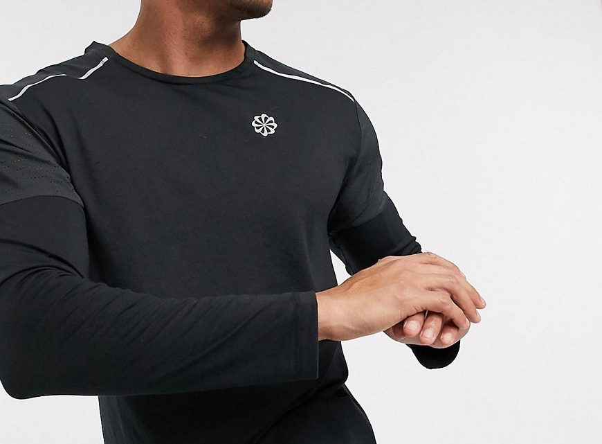 Nike Running - Rise 365 - Top manches longues - Noir
