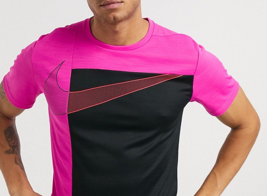 Nike Training - Sport Clash super set - T-shirt - Rose