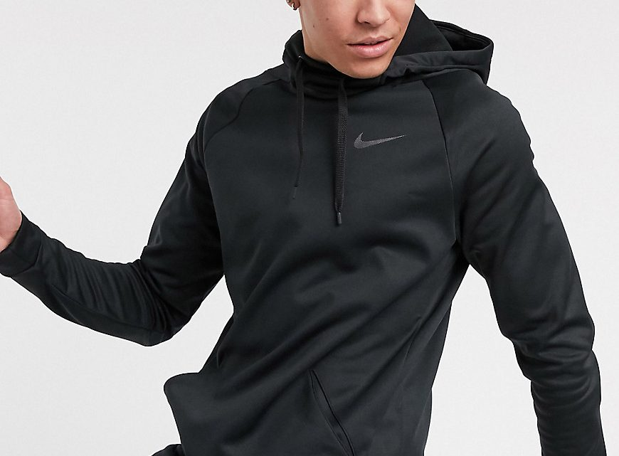 Nike Training Tall - Hoodie thermique - Noir